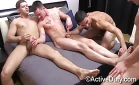 Straight Guys try out hot gay sex and cum