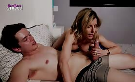 Sharing a Bed with My Step Mom and having Morning Sex - Cory Chase