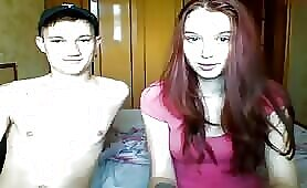 Cute Teen Redhead Enjoys Playing with Phat Man Banana I Webcam Couple