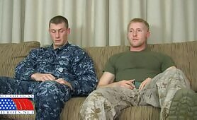 Military Officer's First Gay Blowjob